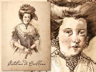 Artist's rendering of Catalina de Orellana