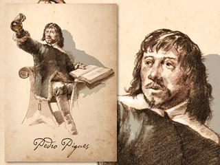 Artist's rendering of Pedro Piques