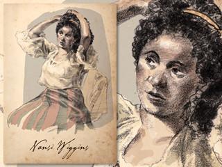 Artist's rendering of Nansi Wiggins