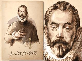 Artist's rendering of Juan Cevadilla