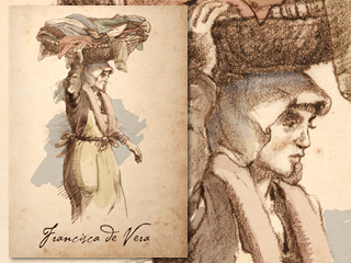 Artist's rendering of Francisca de Vera