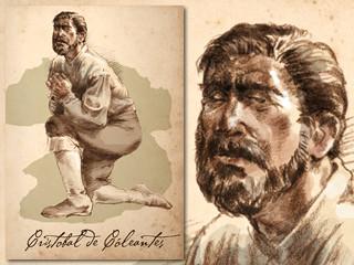 Artist's rendering of Cristóbal de Coleantes