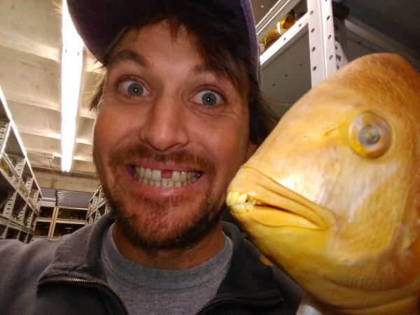 John selfie with fish specimen