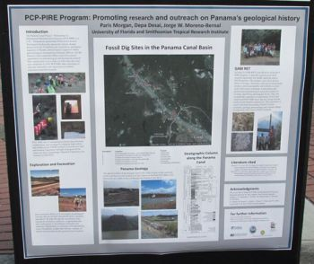 PCP PIRE Program: Promoting research and outreach on Panama's geological history. Photo courtesy of Paris Morgan.