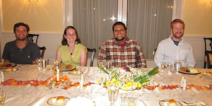 The PCP PIRE crew spent Thanksgiving at the US ambassador's house. © Photo by Terry Farrar.