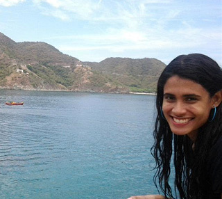 Sara Vásquez, Biology student at the University of Panama with research interests in paleontology. © Photo courtesy of Sara Vásquez.