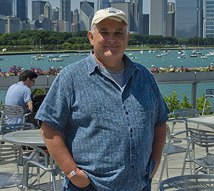 Jeff Gage visiting Chicago with his family. © Photo by Lori Gage.