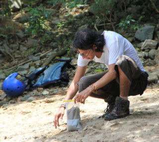 Diego Ramírez is Dr. David Foster's student at the Geology Department at UF. © Photo by Diego Ramírez.