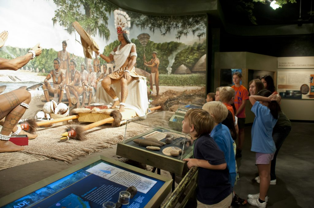 Trading scene in NW Florida exhibit