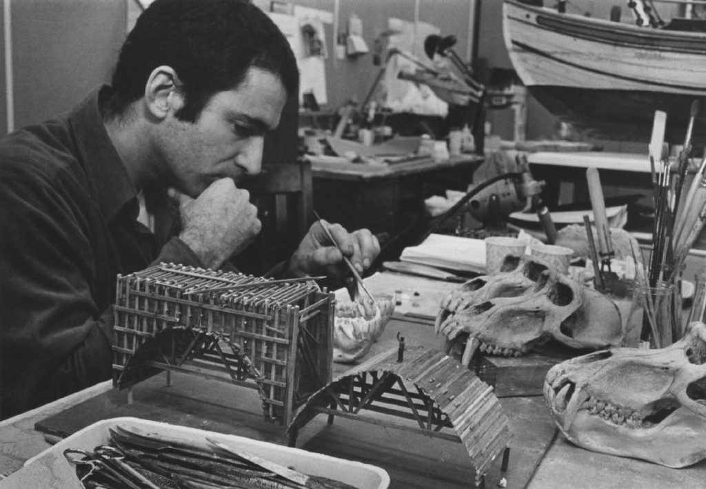 vintage photo of man in working studio