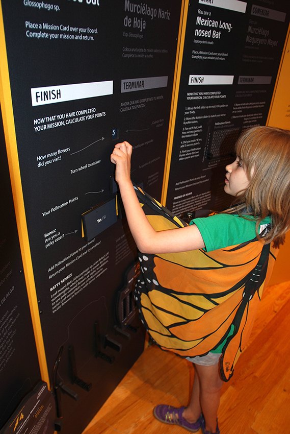 girl interacting with exhibit