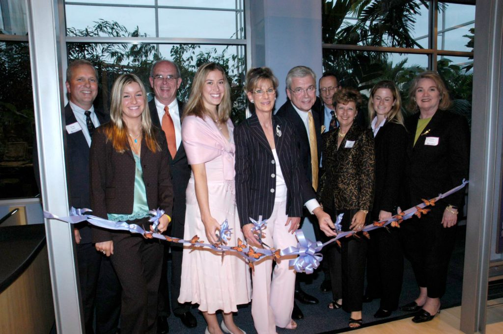 ribbon cutting of butterfly rainforest