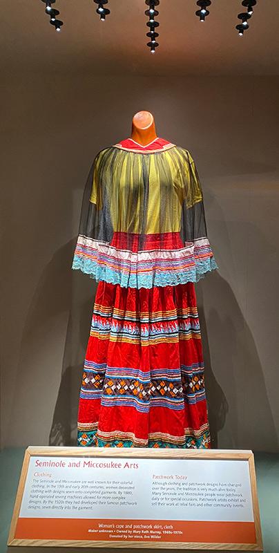 museum display of Seminole dress