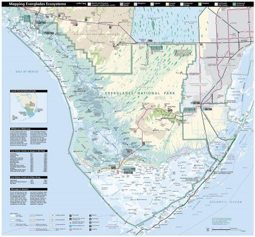 Florida Everglades National Park Map.
