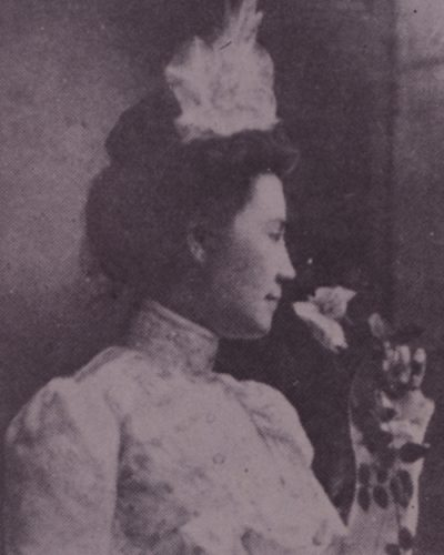 May Mann Jennings black and white portrait.