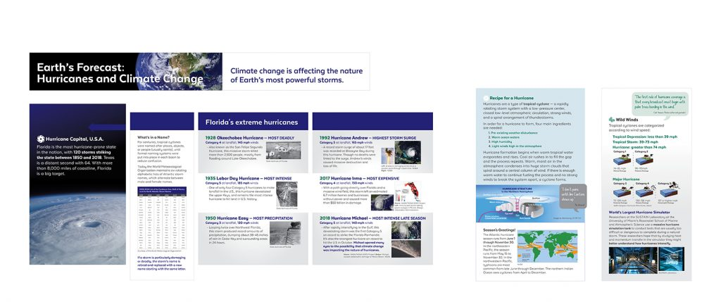 Earth's Forecast: Hurricanes and Climate Change exhibit panels