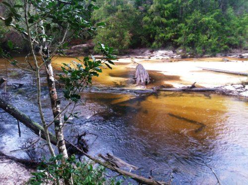 very sandy river