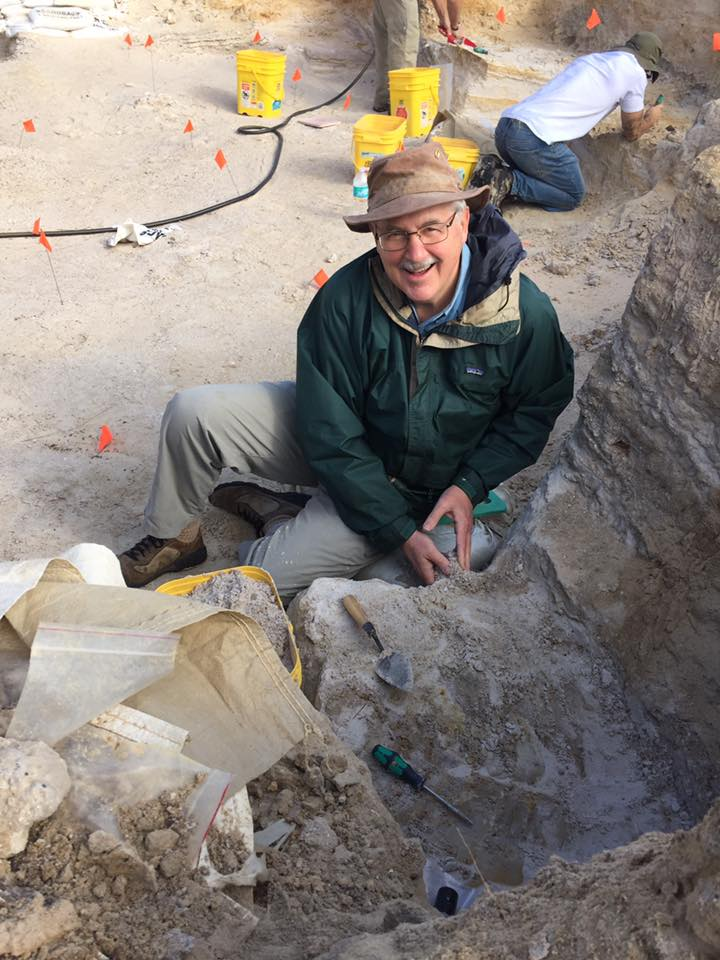 Dr. Philip Gingerich at the dig.