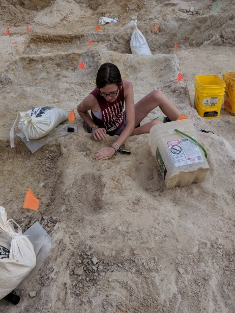 Figure 1. Early stages of digging one of the assigned digging plots.