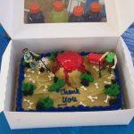 Paleontology cake.