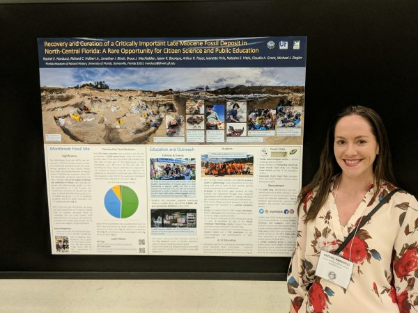 Rachel Narducci presenting the Montbrook Poster at the 2018 SVP meeting.