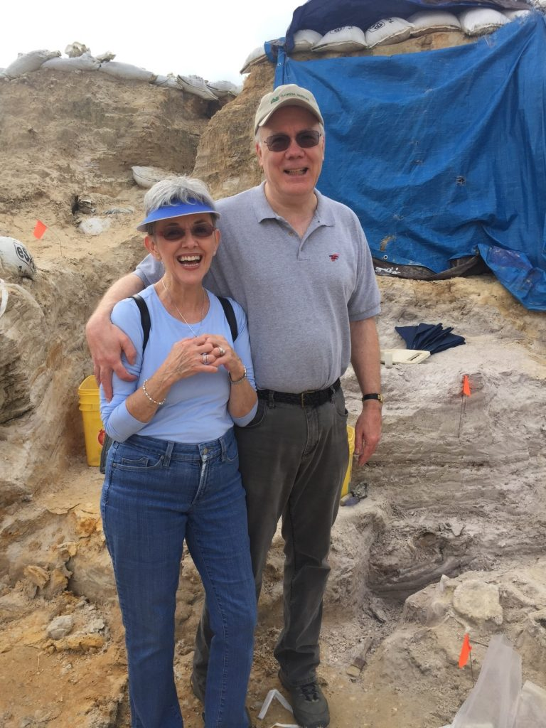 Kathleen and Dan Hayman visiting the Montbrook site Fall 2018!