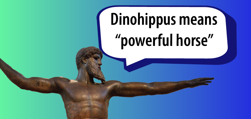 "Dinohippus means ""powerful horse"""