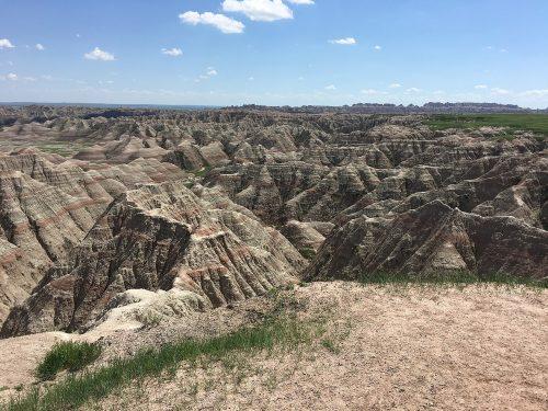 badlands formations