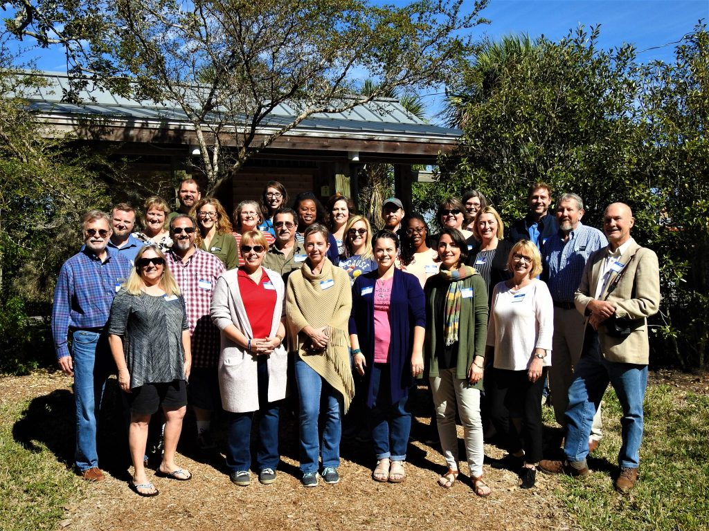The kick-off retreat participants, including teachers and administrators from 5 counties, UF faculty, and UF staff.