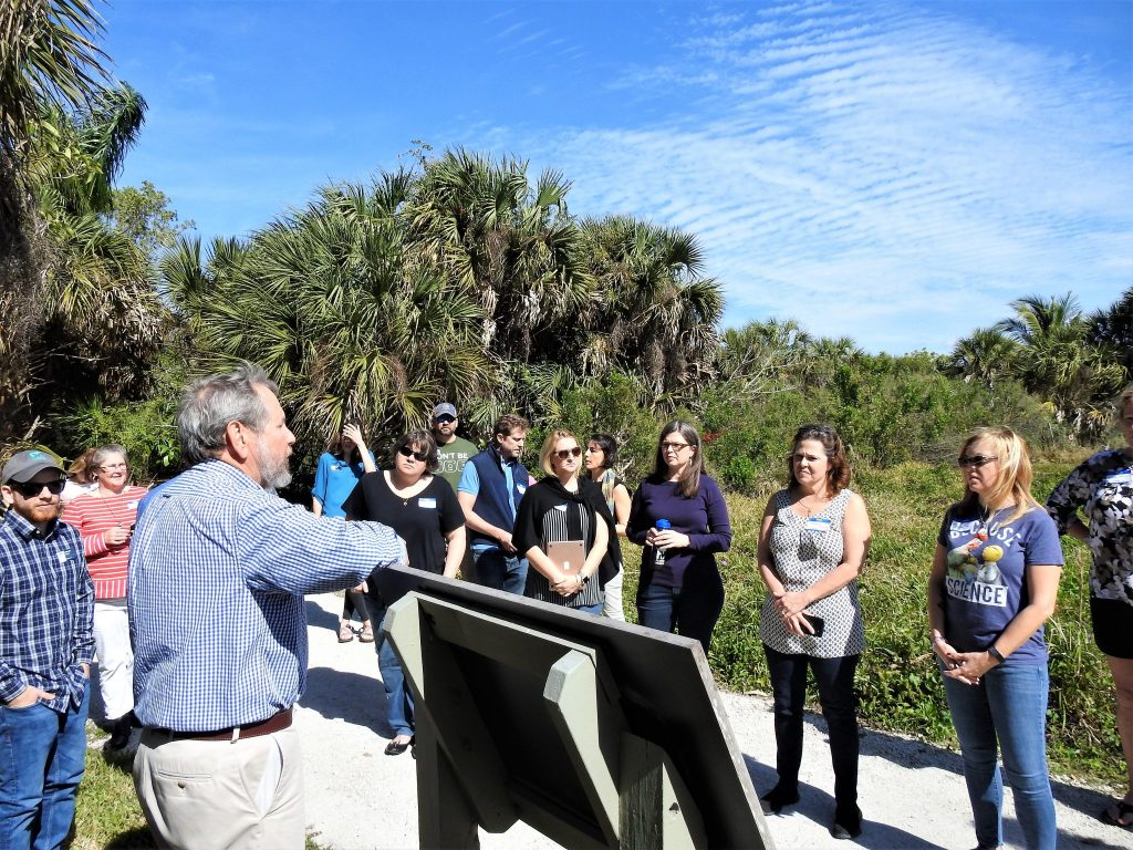 Participants learned about the Calusa people that inhabited Pine Island, and the archaeology that has revealed the way the lived.