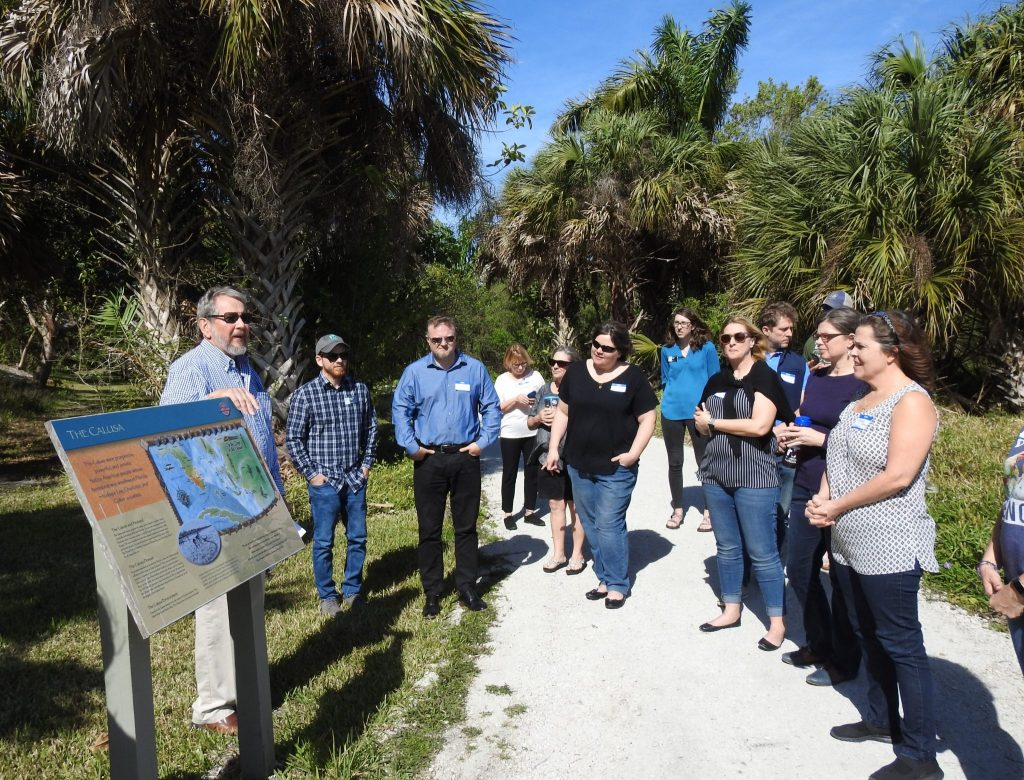 It was a beautiful day to be outside and explore the Calusa Heritage Trail.