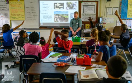 sean moran scientist speaking with k-12 classroom