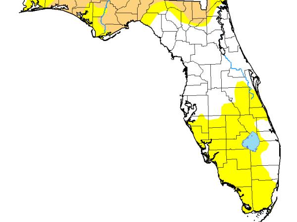 florida drought map