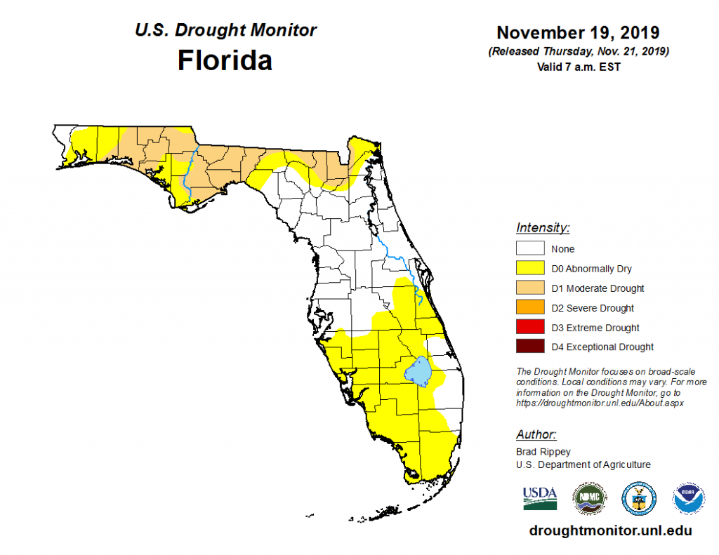 drought conditions for Florida