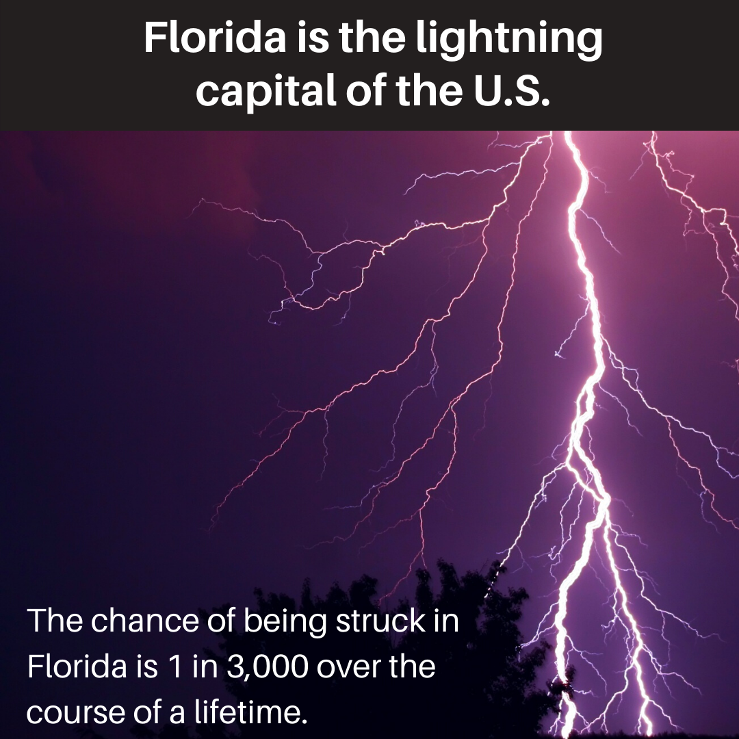 Florida is the lightning capital of the U.S. graphic