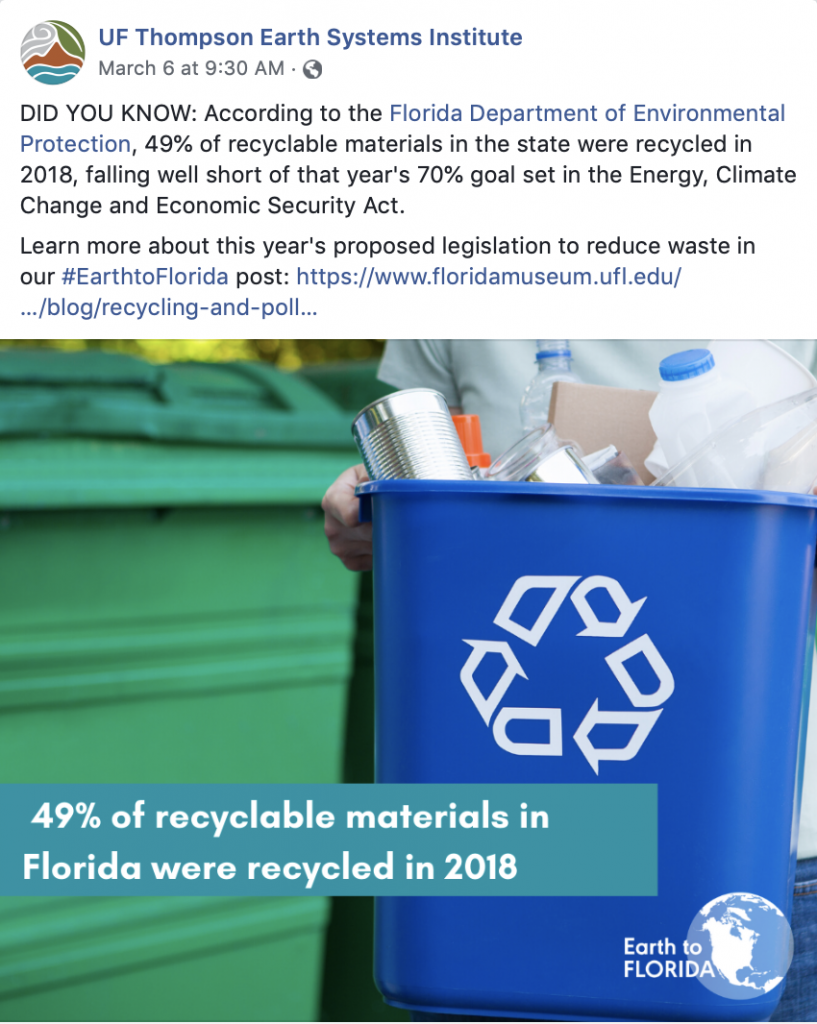 Recycling in Florida Graphic