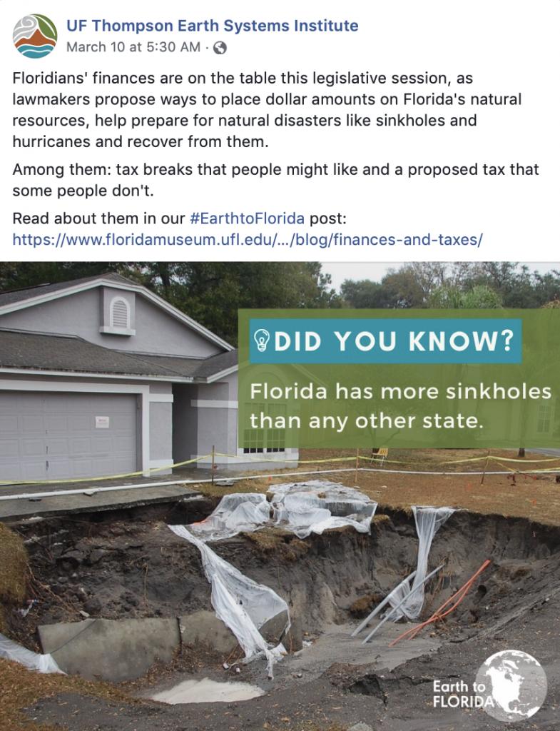 Florida Sinkholes Graphic