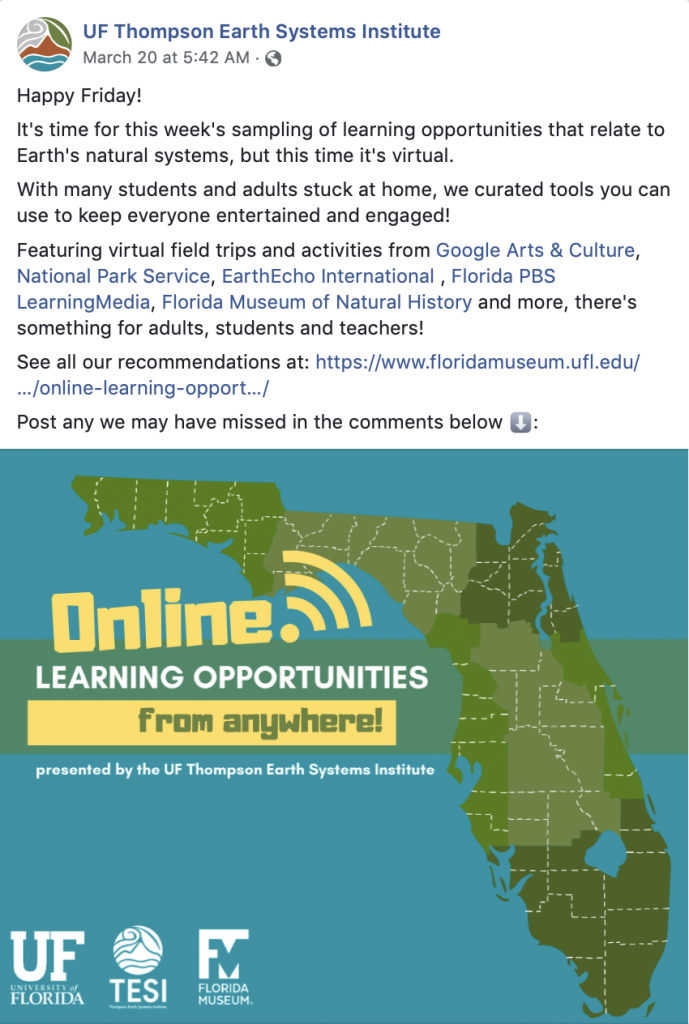 Online Learning Opportunities Graphic