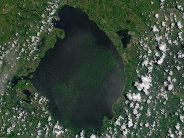 lake okeechobee from space