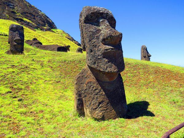 Moai sculptures on Easter Island