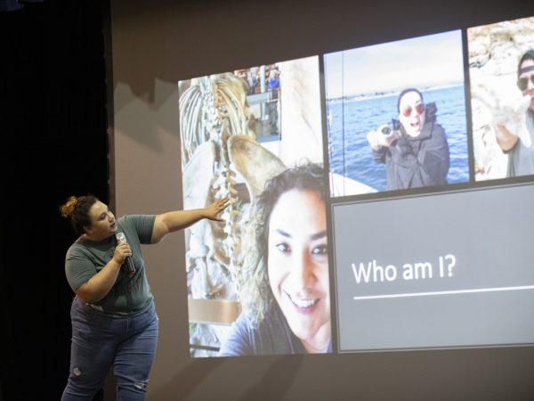 Scientist presents for K-12 students