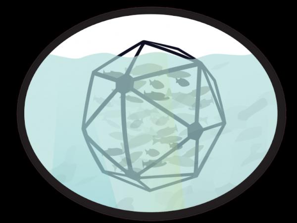 offshore aquaculture pen illustration