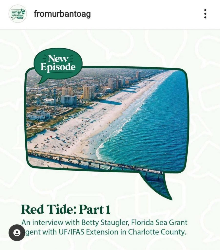 A screenshot of the urban to ag instagram, red tide post