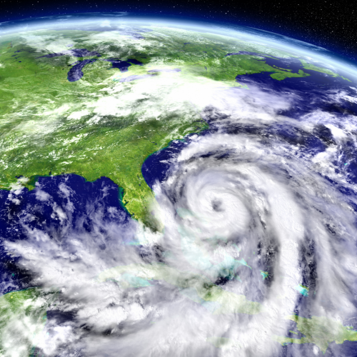 space view of hurricane