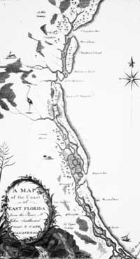 map of east Florida