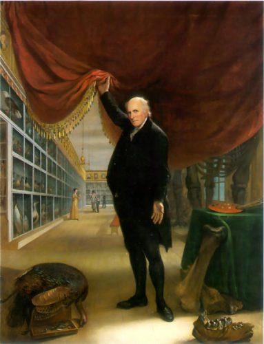 self portrait of Charles Wilson Peale in his museum