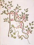 illustration of green snake