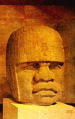 Olmec carved stone head