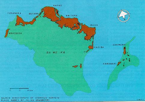 Island names map
