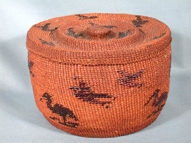 Twined Basket with Lid